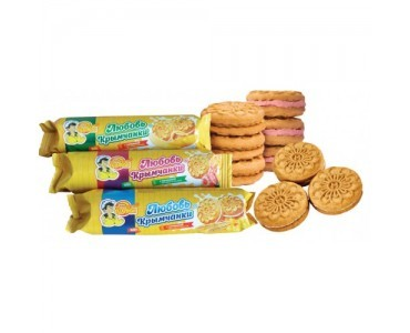 """Crimean girl's love"" biscuits with fillings with vanilla, raspberry, banana, orange flavors"